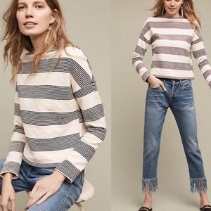 Anthropologie Eri+Ali Saborie Striped Sweatshirt
